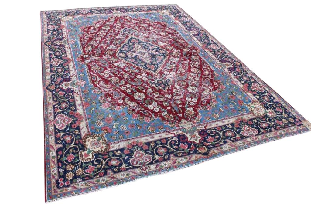 Afbeelding van Antiek perzisch vloerkleed 14801 410cm x 300cm 80-90 jaar oud