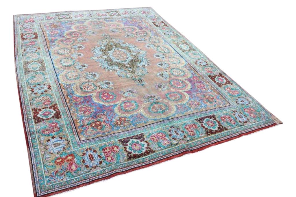 Antiek  perzisch vloerkleed 14813 397cm x 305cm