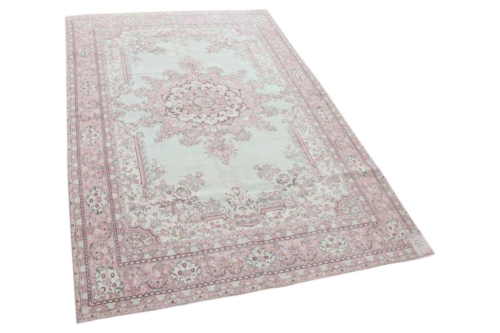 Antiek  perzisch vloerkleed 17421 300cm x 201cm