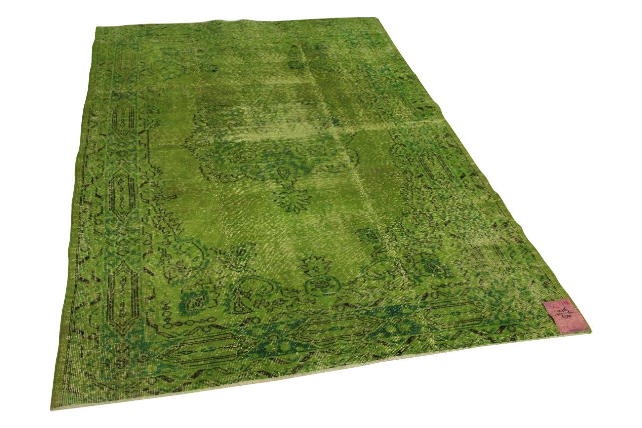 Appel groen vloerkleed 252cm x 160cm nr12956