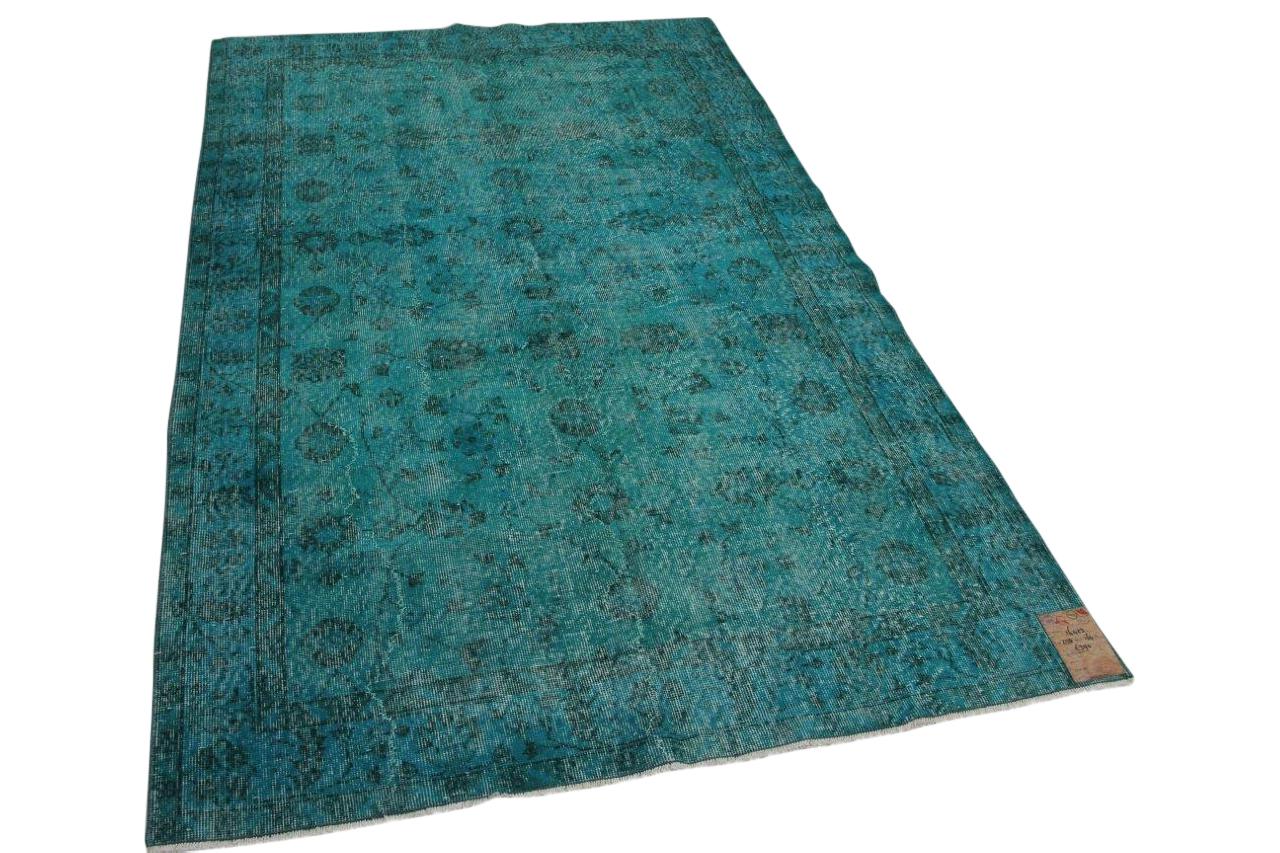 Aqua vintage vloerkleed 16423