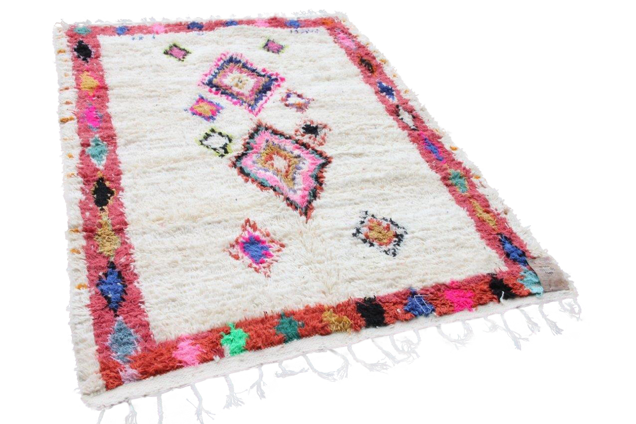 Afbeelding van Azilal vloerkleed 91320 223cm x 163cm hoogpolig vloerkleed uit Marokko