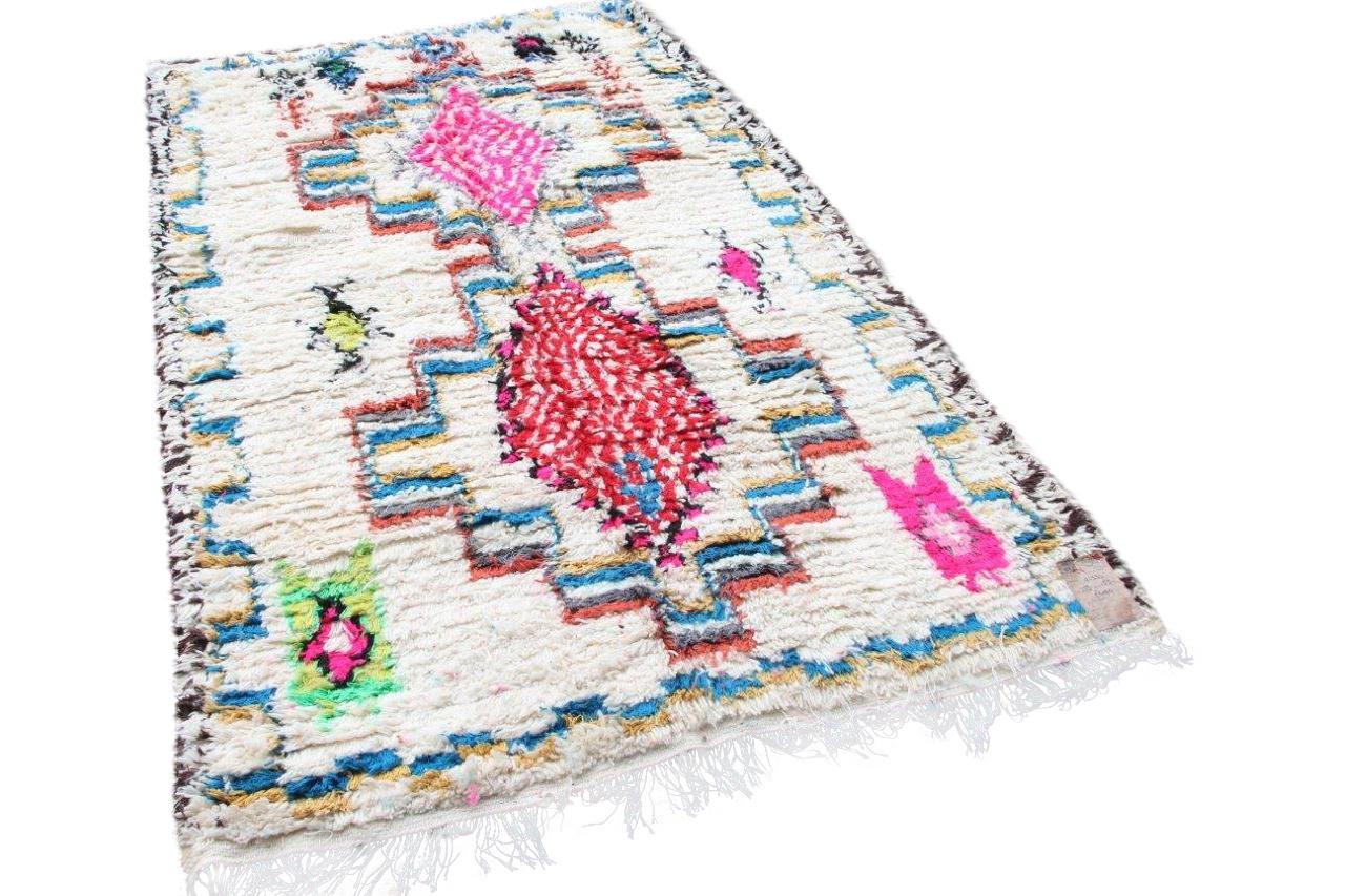 azilal vloerkleed 54828 270cm x 170cm hoogpolig vloerkleed uit marokko