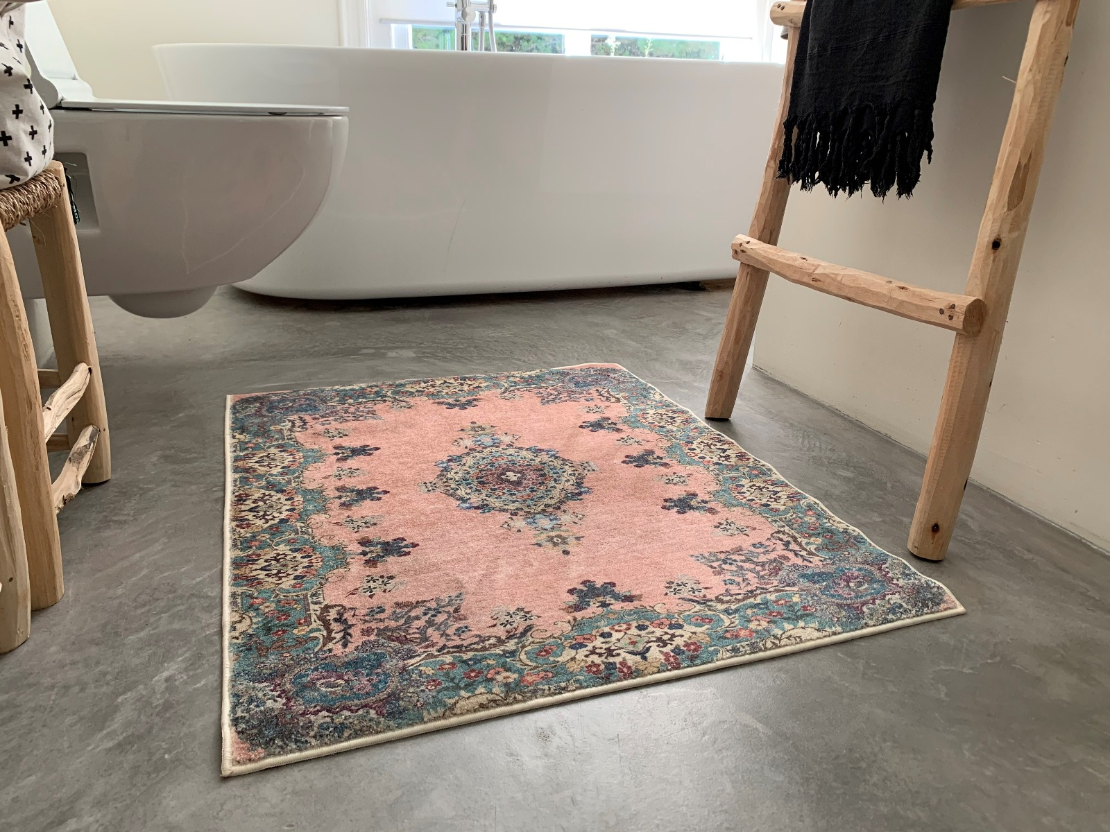 Badmat 510 oud roze (90cm x 70cm)