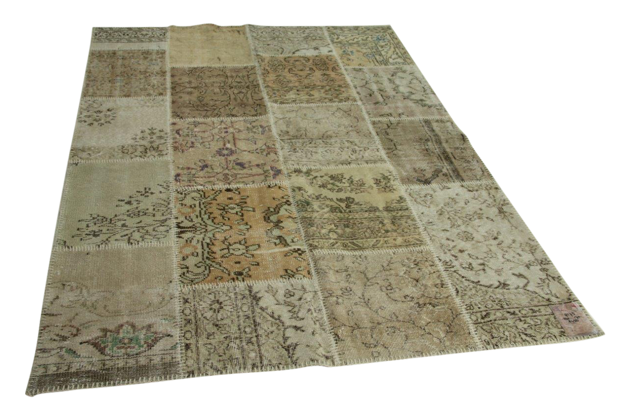 Beige patchwork vloerkleed 240cm x 170cm nr9173