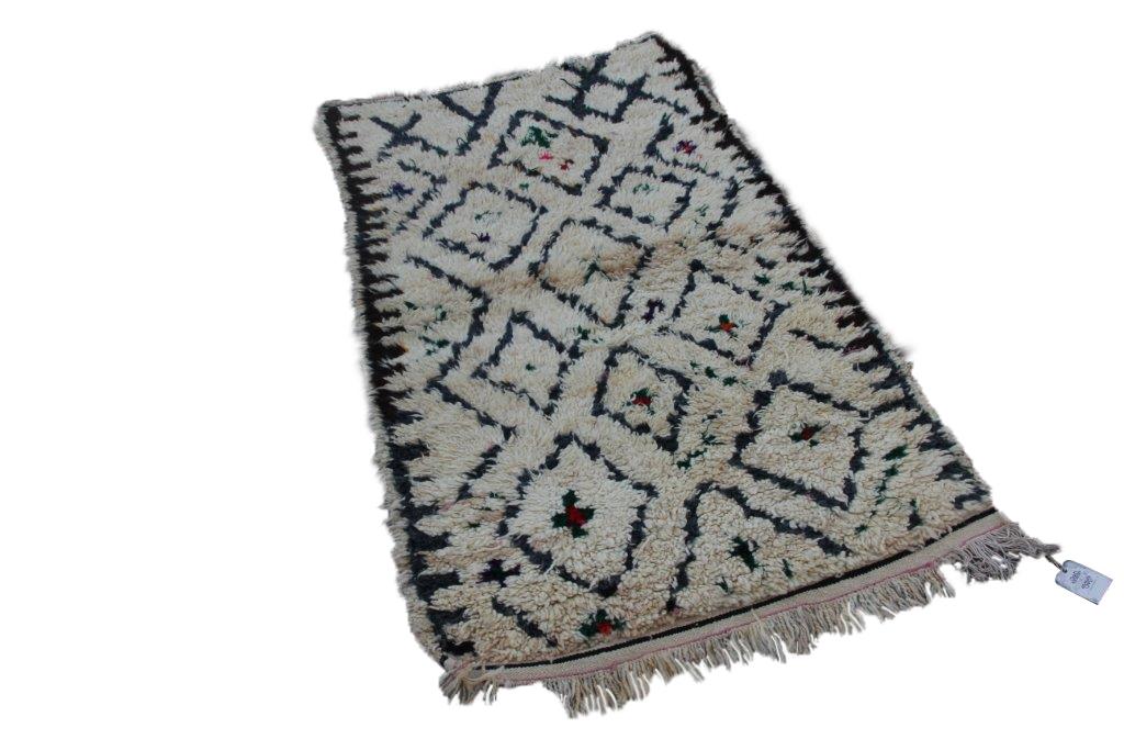 Klein antiek Beni Ouarain vloerkleed uit Marokko 170cm x 99cm (nr 3251)