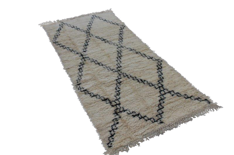 NIEUW BINNEN: Beni Ouarain vloerkleed uit Marokko 260cm x 131cm (nr 3770)