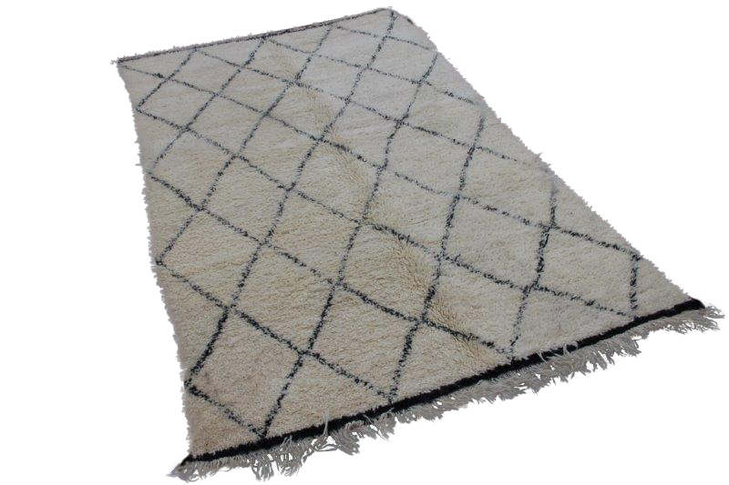 VERKOCHT: Beni Ouarain vloerkleed uit Marokko 294cm x 187cm (nr 3775)