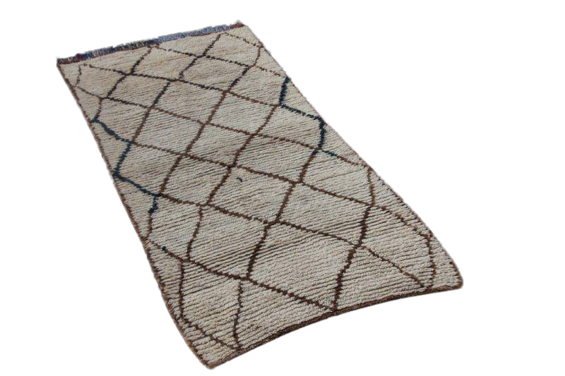 Beni Ouarain vloerkleed uit Marokko no 9632 (202cm x 95cm)