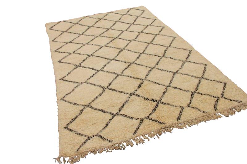Beni Ouarain vloerkleed uit Marokko 307cm x 210cm (nr 460)