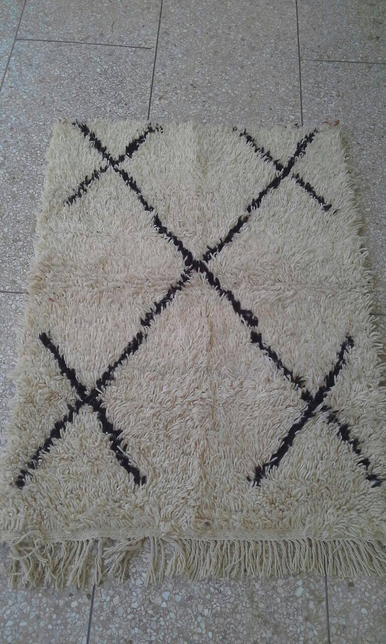 Klein Beni Ouarain vloerkleed uit Marokko 125cm x 94cm (nr 803) (kleed wordt begin oktober in Nederland verwacht)