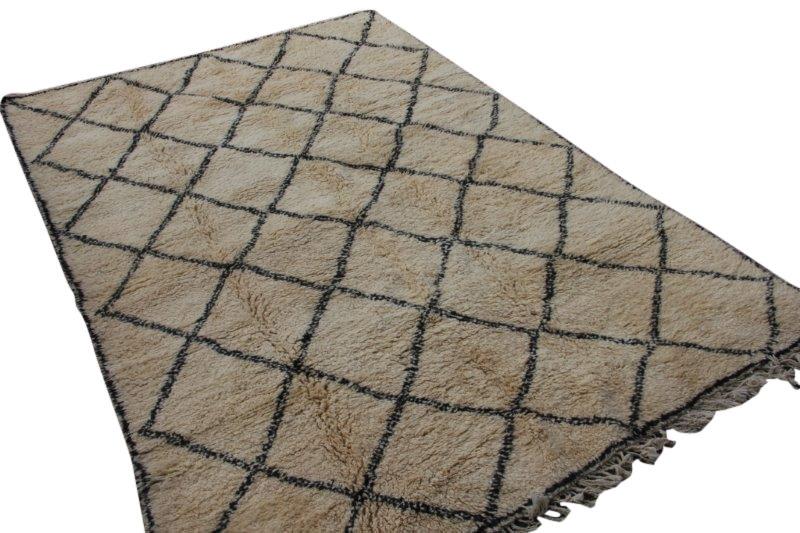 Ivoorwit Beni Ouarain vloerkleed uit Marokko (304cm x 210cm) 3033
