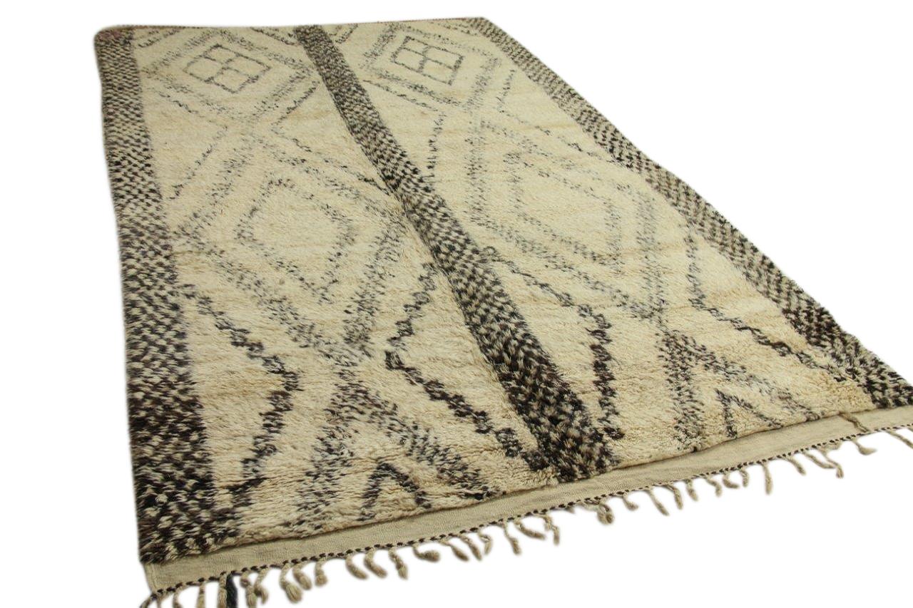 Antiek beni ouarain vloerkleed uit Marokko