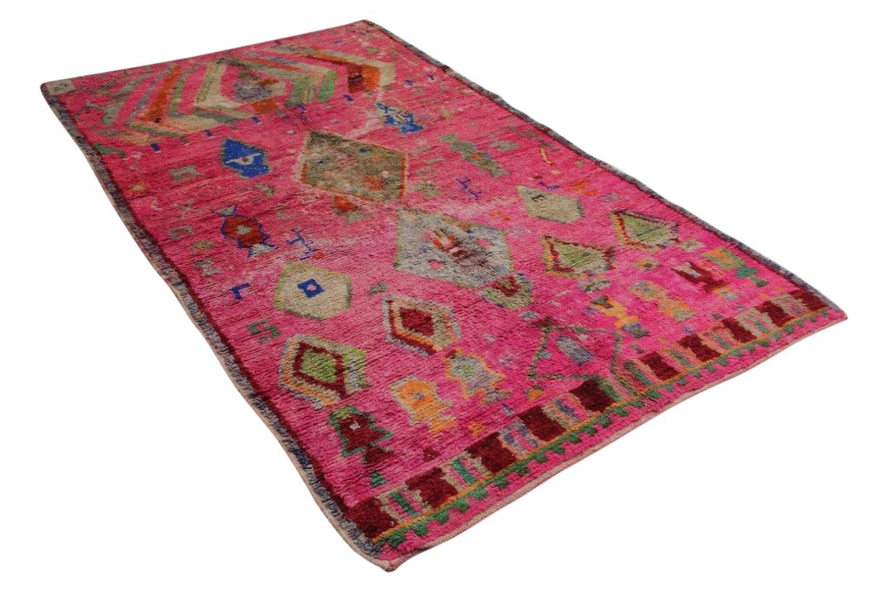 roze beni mguild vloerkleed 280cm x 168cm