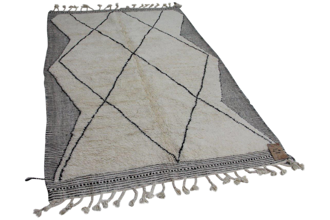 Witte beni ouarain met zwarte streep 12202
