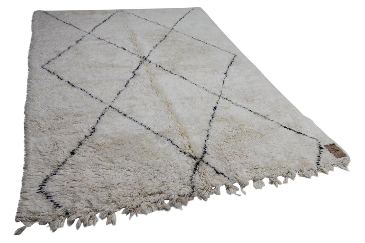 Witte beni ouarain met zwarte streep 12212