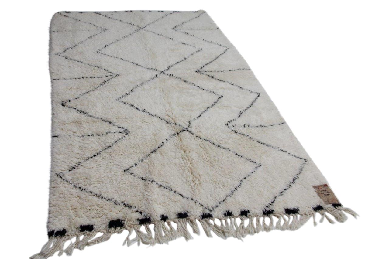 Witte beni ouarain met zwarte streep 12222