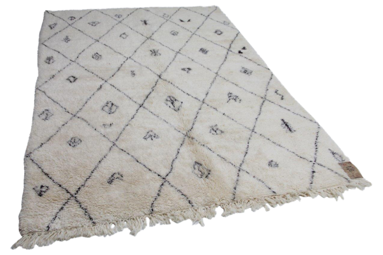 Witte beni ouarain met zwarte streep 12230