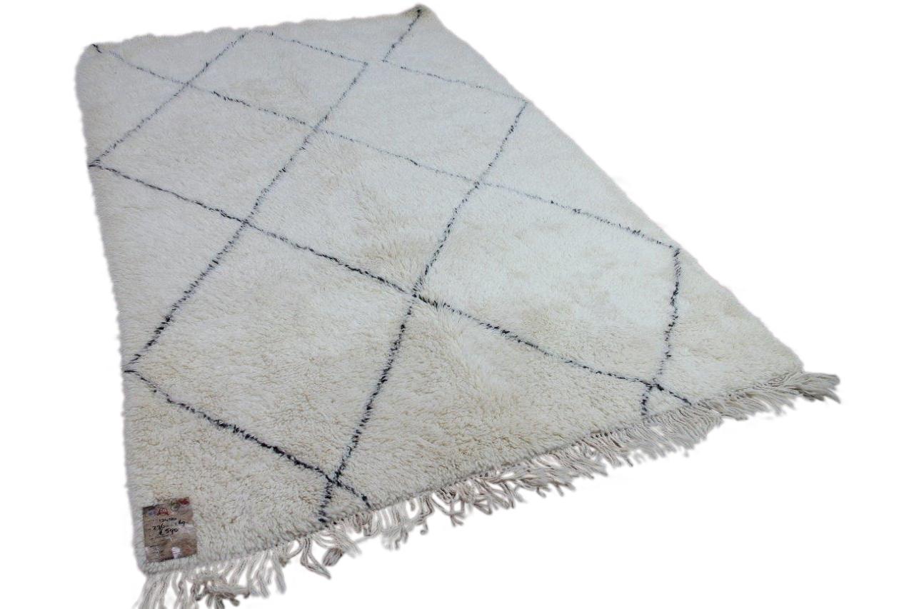 Beni ouarain hoogpolig vloerkleed uit Marokko 13489 276cm x 169cm