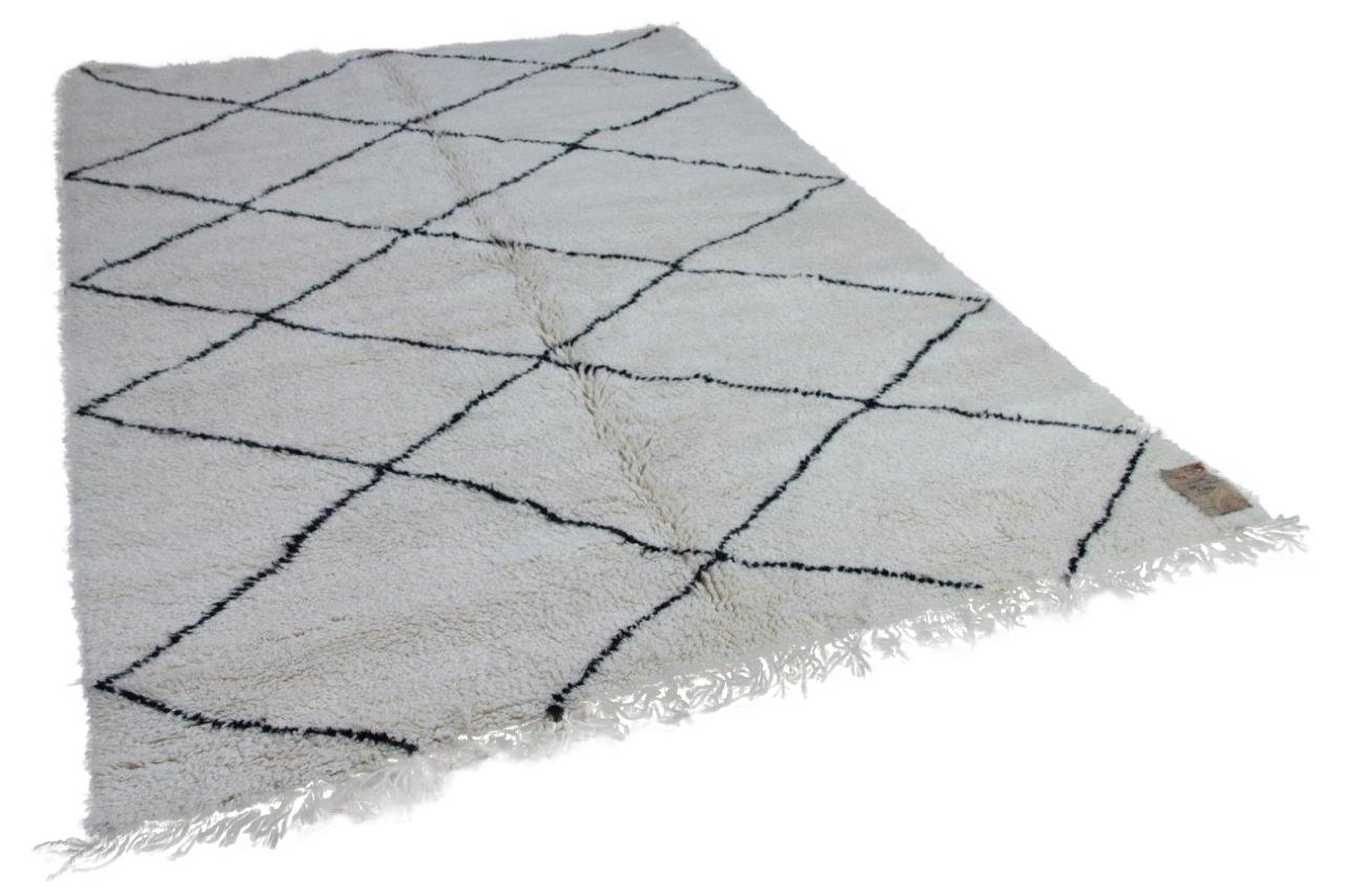 Beni ouarain hoogpolig vloerkleed uit Marokko 17468, 288cm x 203cm