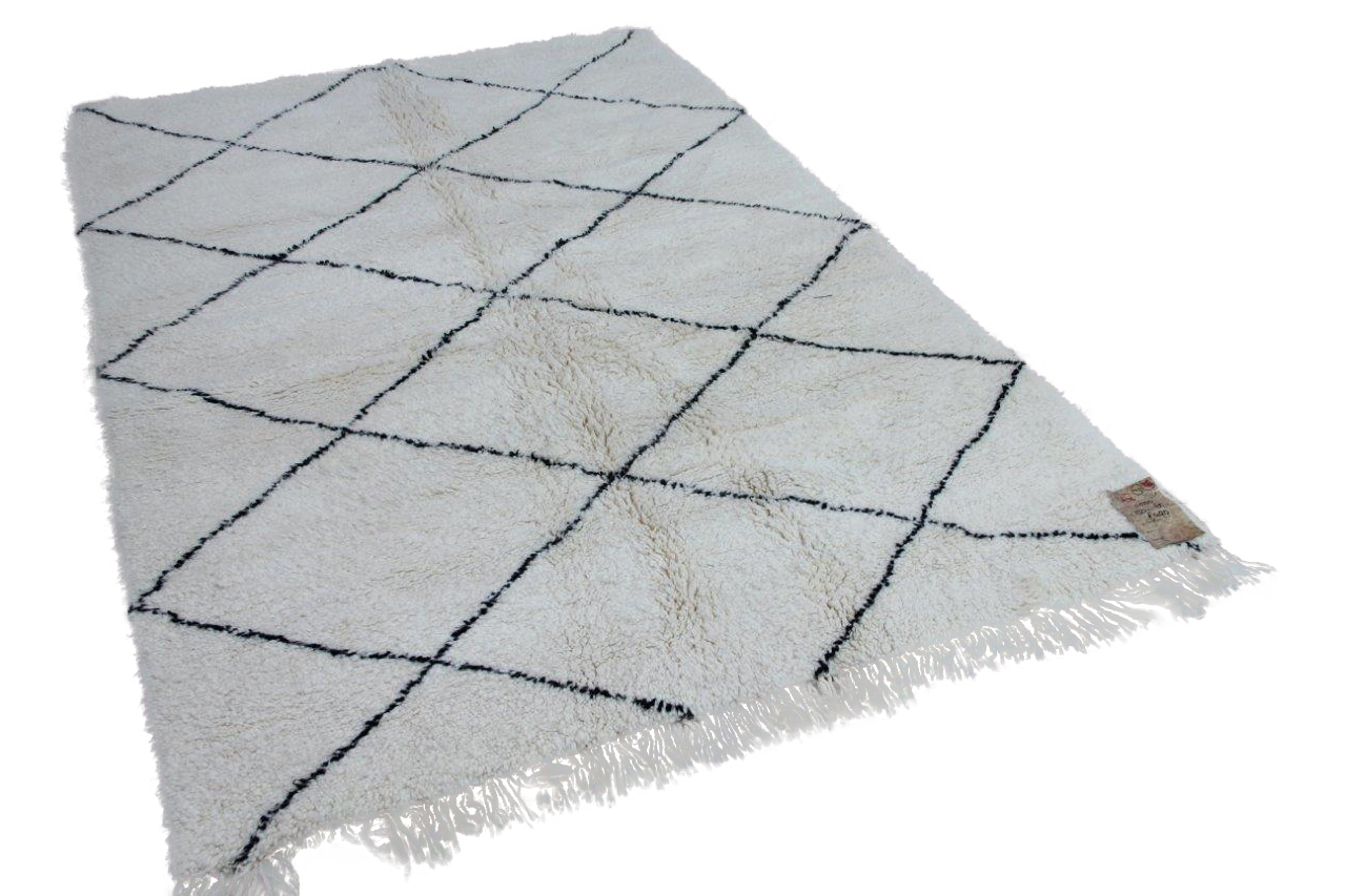 Beni ouarain hoogpolig vloerkleed uit Marokko 17550 233cm x 165cm