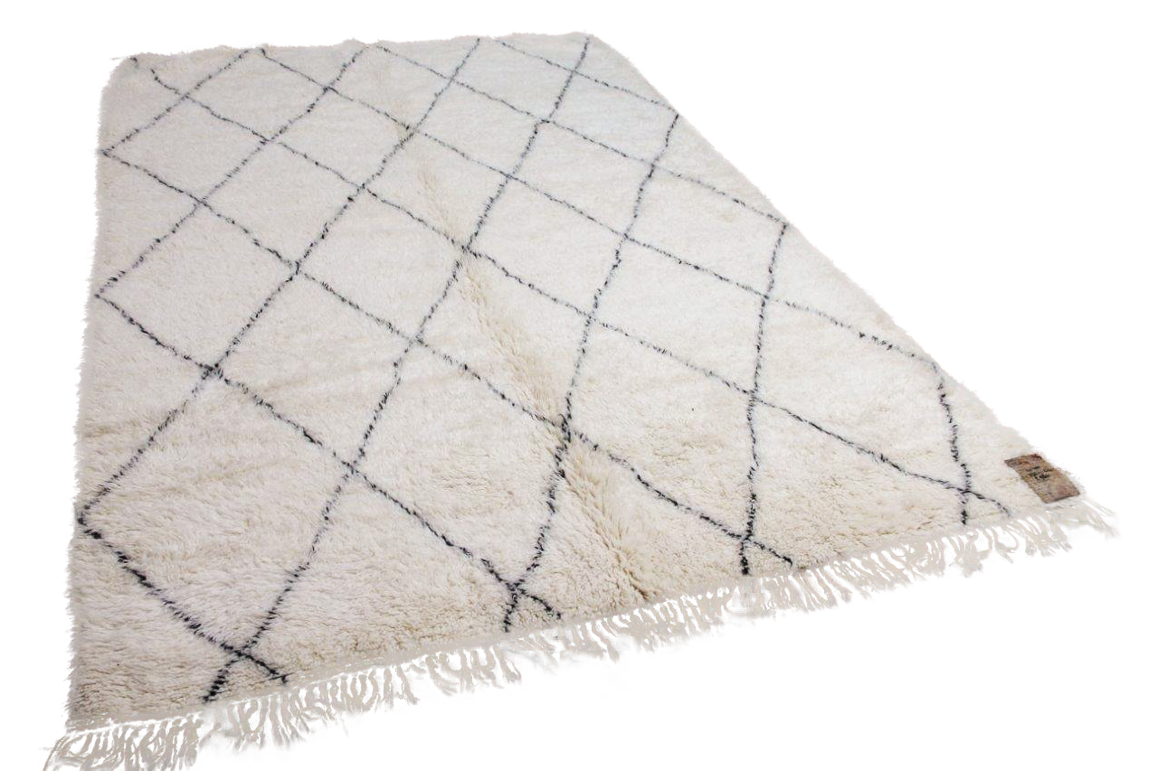 Beni ouarain hoogpolig vloerkleed uit Marokko 41401 322cm x 210cm