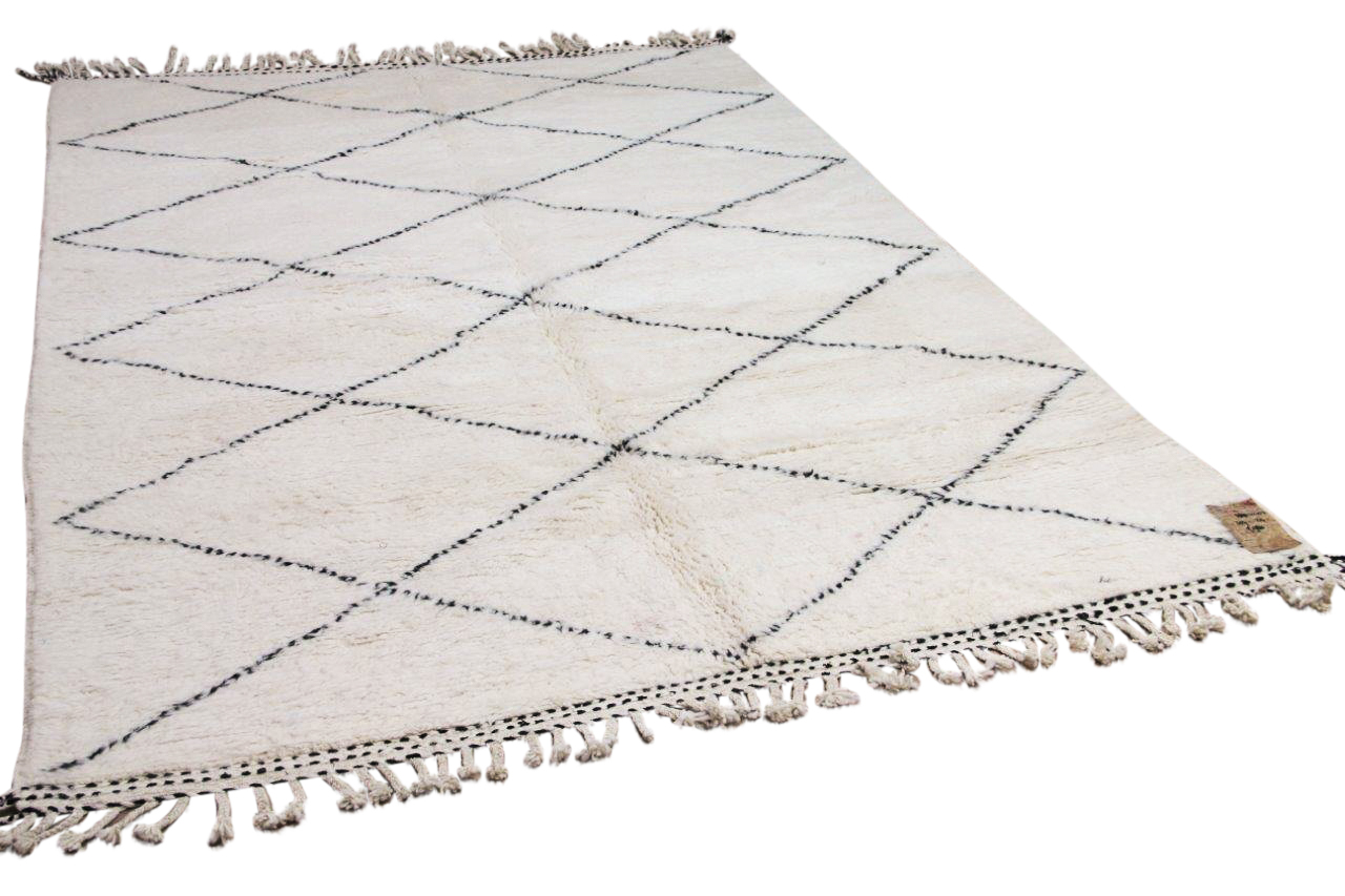 Beni ouarain hoogpolig vloerkleed uit Marokko 41403 307cm x 214cm