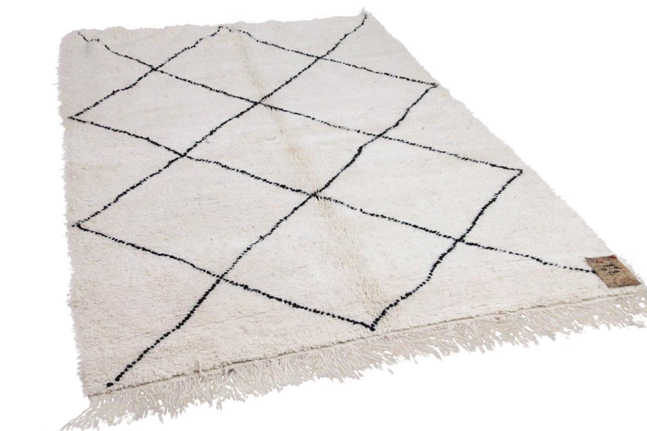 Beni ouarain hoogpolig vloerkleed uit Marokko 41406 235cm x 164cm