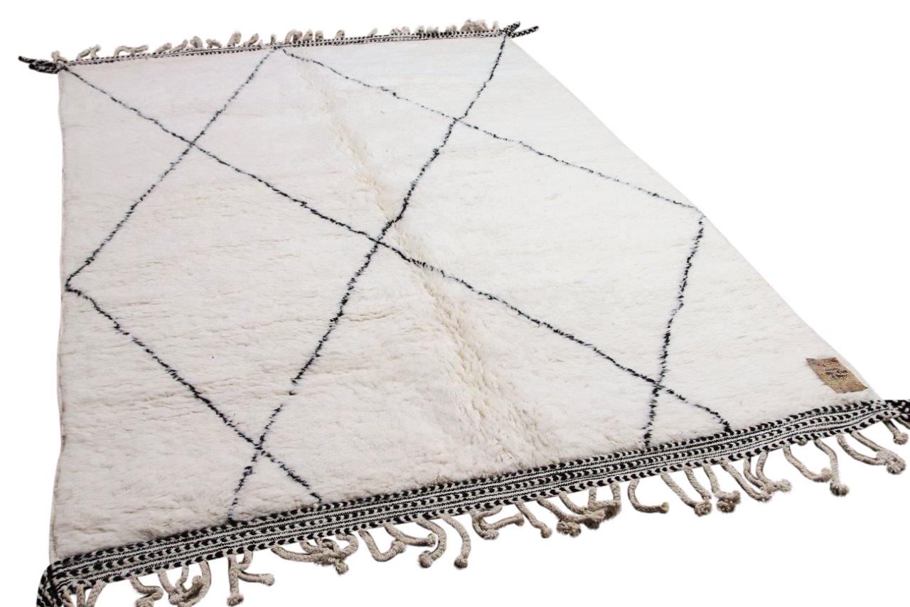 Beni ouarain hoogpolig vloerkleed uit Marokko 41407 283cm x 208cm