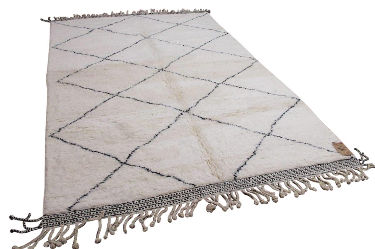 Beni ouarain hoogpolig vloerkleed uit Marokko 41408 306cm x 215cm