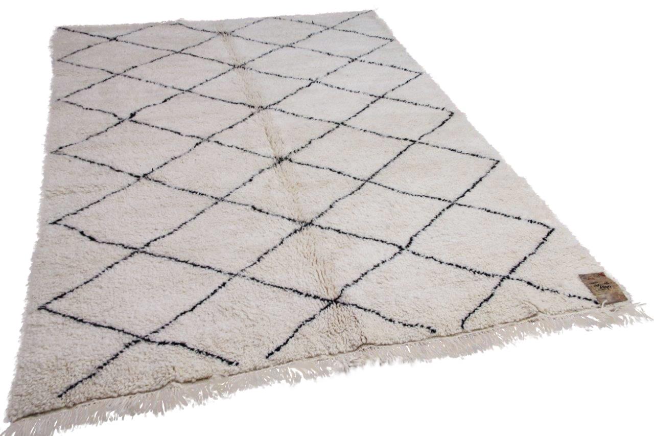 Beni ouarain hoogpolig vloerkleed uit Marokko 41411 298cm x 195cm