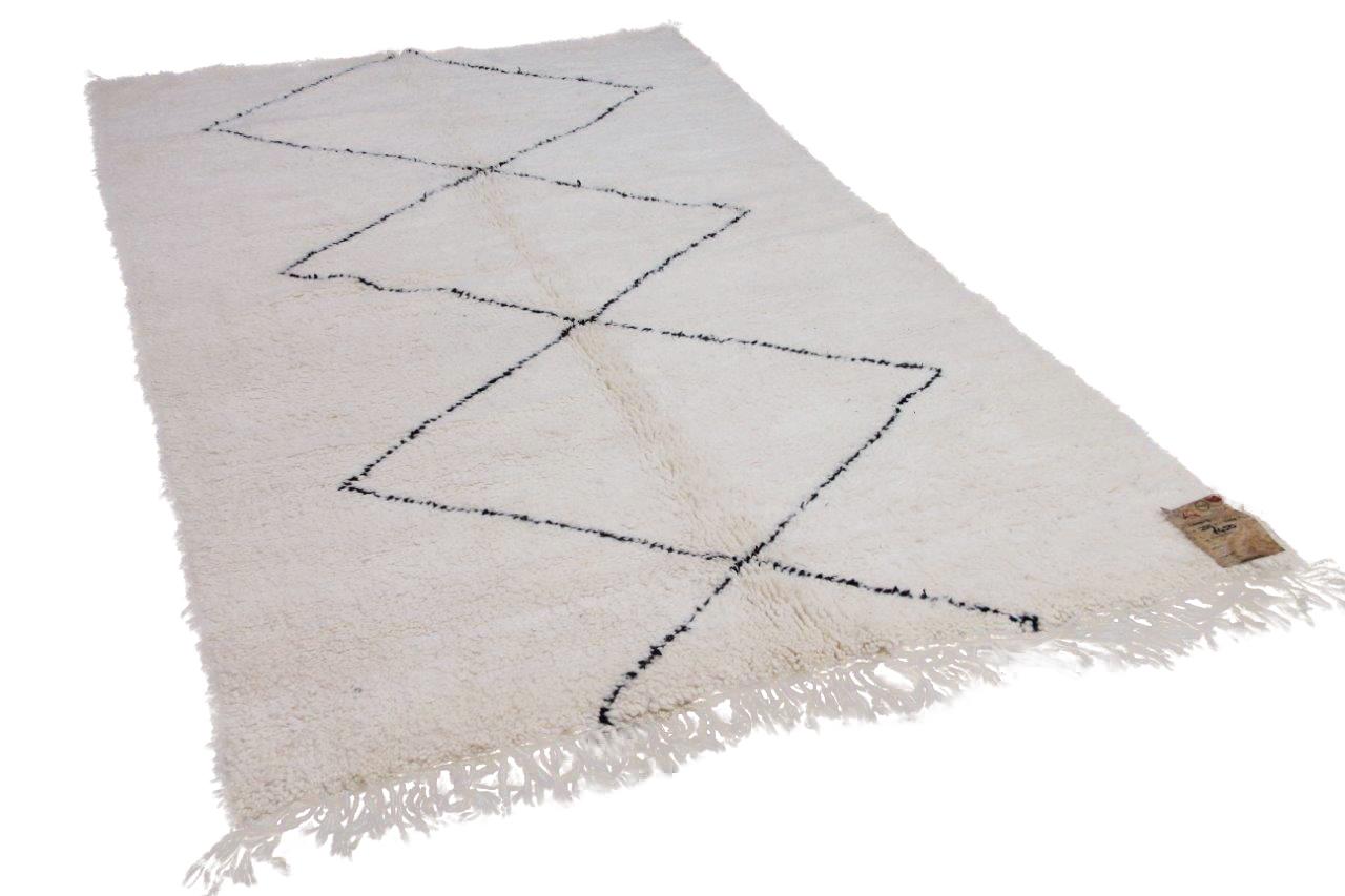 Beni ouarain hoogpolig vloerkleed uit Marokko 41412 255cm x 144cm