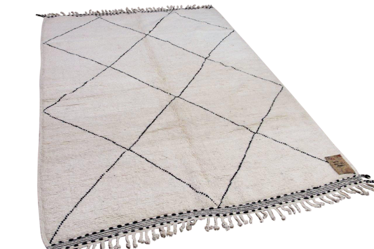 Beni ouarain hoogpolig vloerkleed uit Marokko 41413 242cm x 169cm