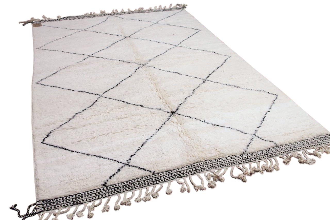 Beni ouarain hoogpolig vloerkleed uit Marokko 41418 300cm x 215cm