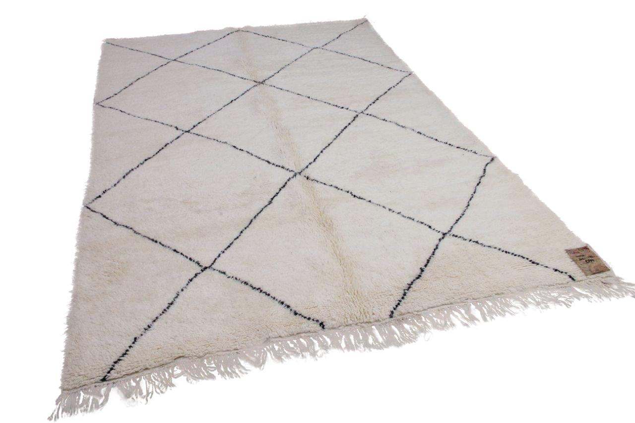 Beni ouarain hoogpolig vloerkleed uit Marokko 41421 306cm x 195cm