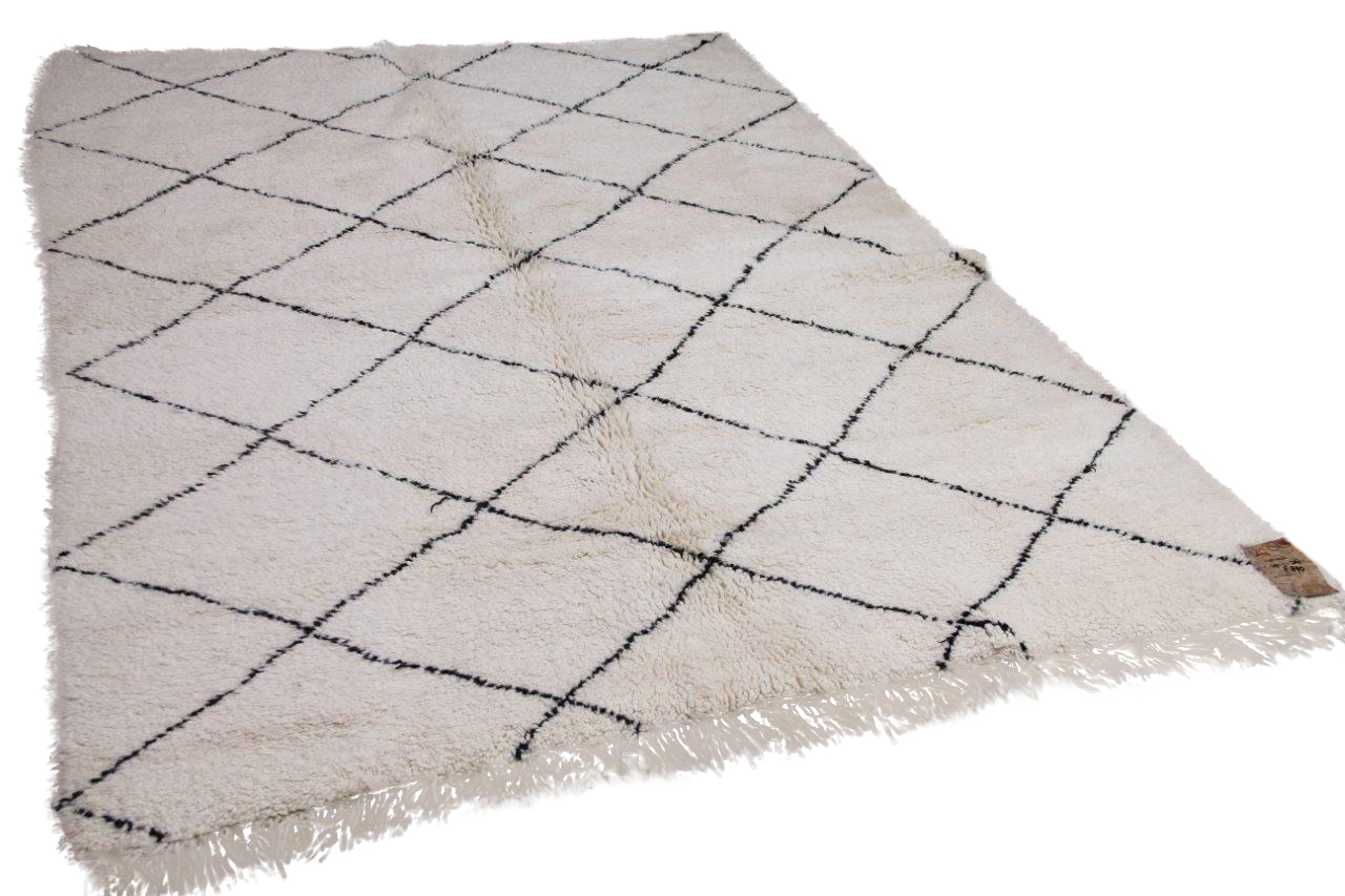 Beni ouarain hoogpolig vloerkleed uit Marokko 41426 294cm x 208cm