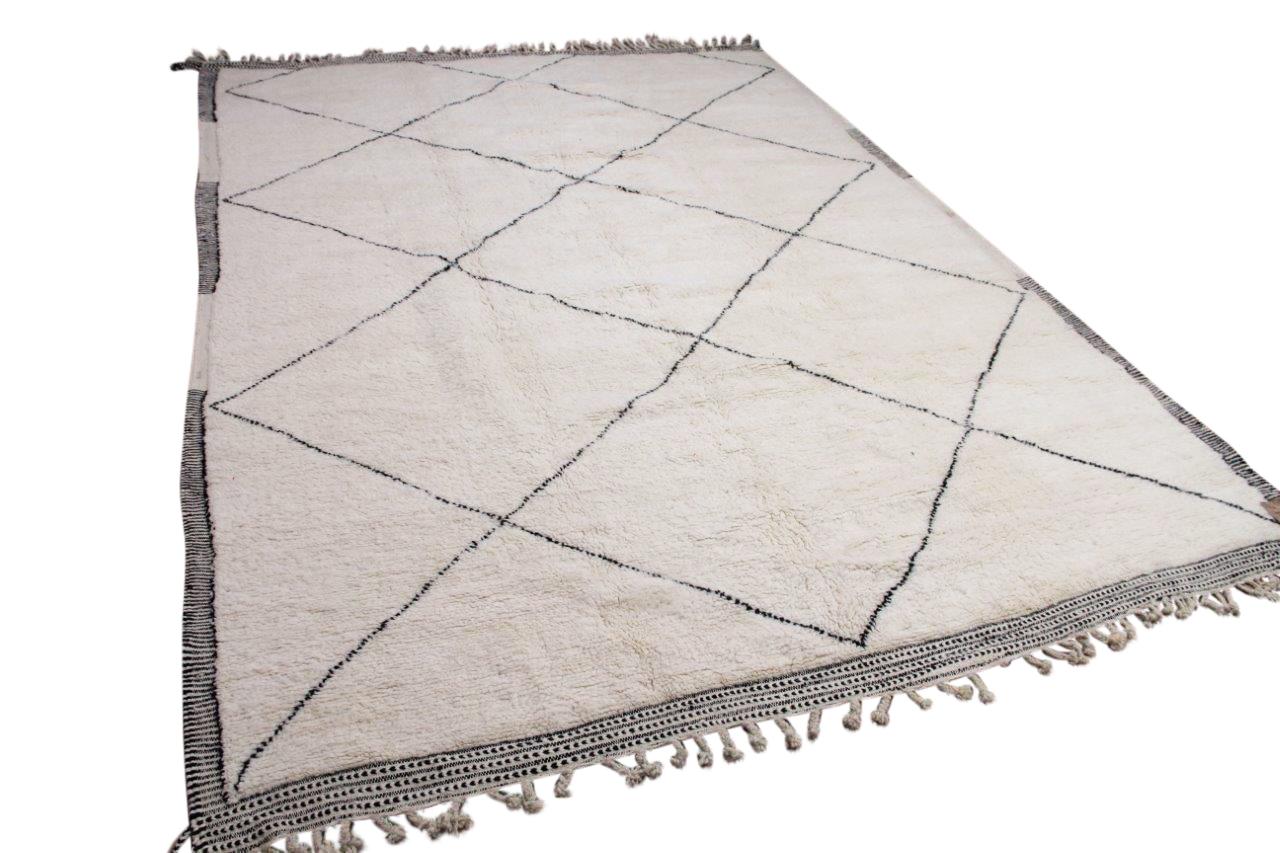 Beni ouarain hoogpolig vloerkleed uit Marokko 41427 398cm x 285cm