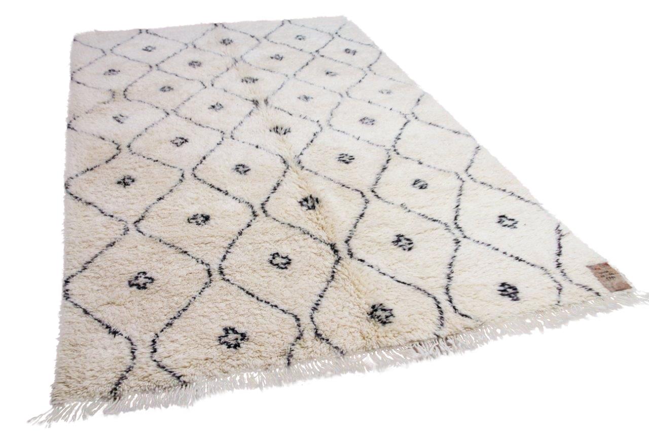 Beni ouarain hoogpolig vloerkleed uit Marokko 41429 319cm x 200cm