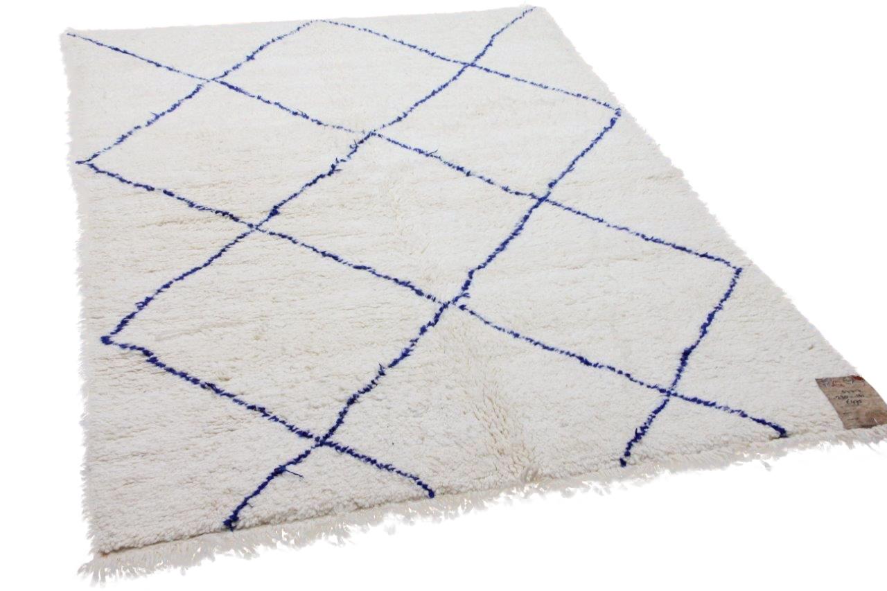 Beni ouarain met blauw nr.54617 230cm x 161cm