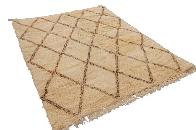 VERKOCHT Beni Ouarain vloerkleed uit Marokko 280cm x 212cm (nr 4011)
