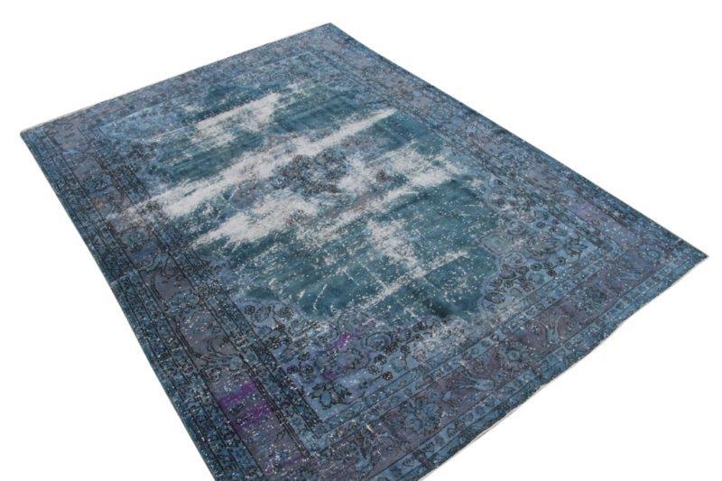 Blauw vintage vloerkleed 286cm x 210cm  (nr2927)
