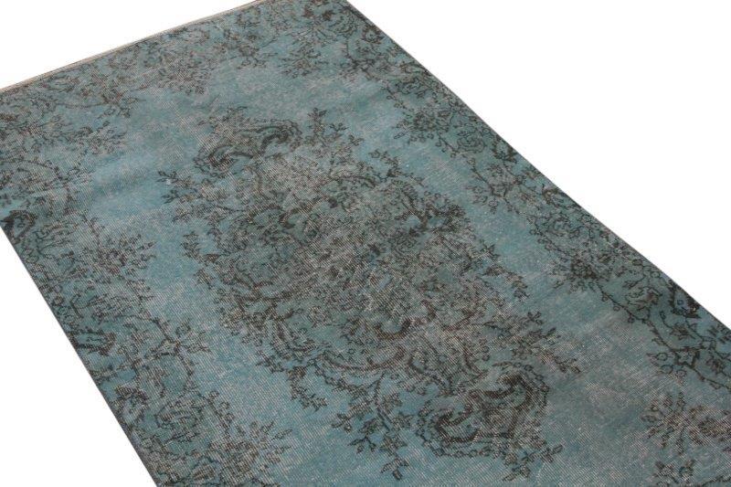 Blauw vintage vloerkleed 194cm x 114cm  (nr4814)