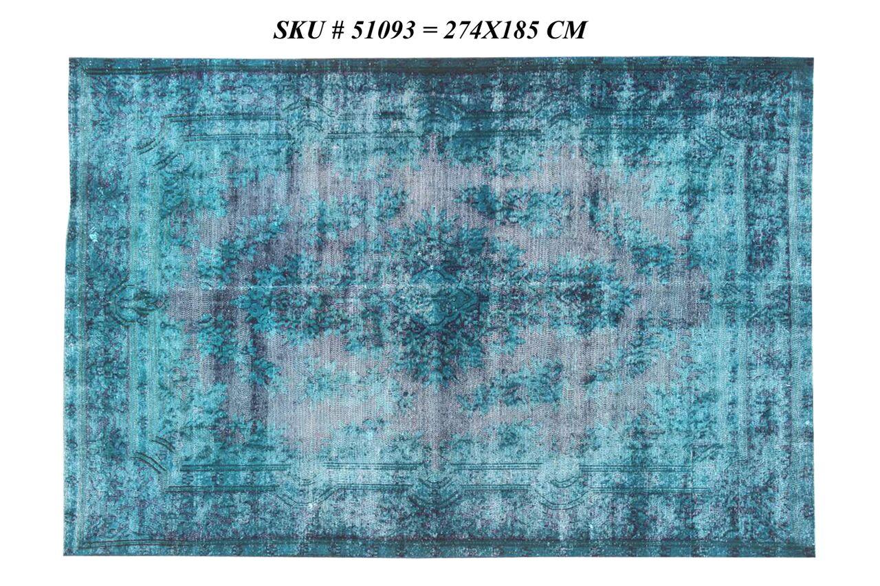 Blauw vintage vloerkleed 274cm x 195cm  (nr51093)