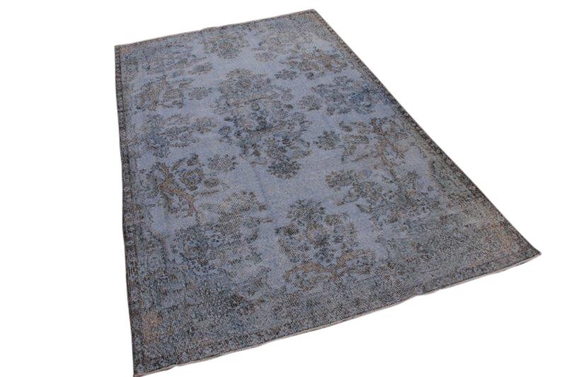Lichtblauw vintage tapijt 314cm x 192cm  (nr1222)