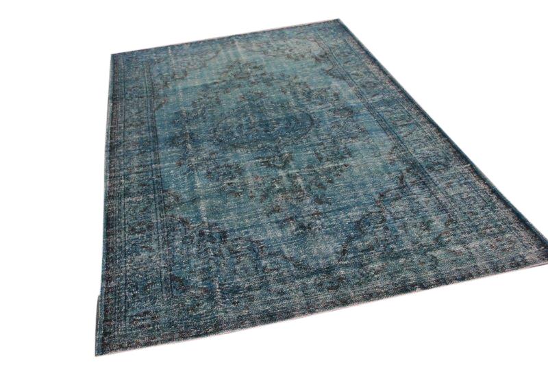 VERKOCHT blauw vintage vloerkleed 317cm x 201cm  (nr2036)