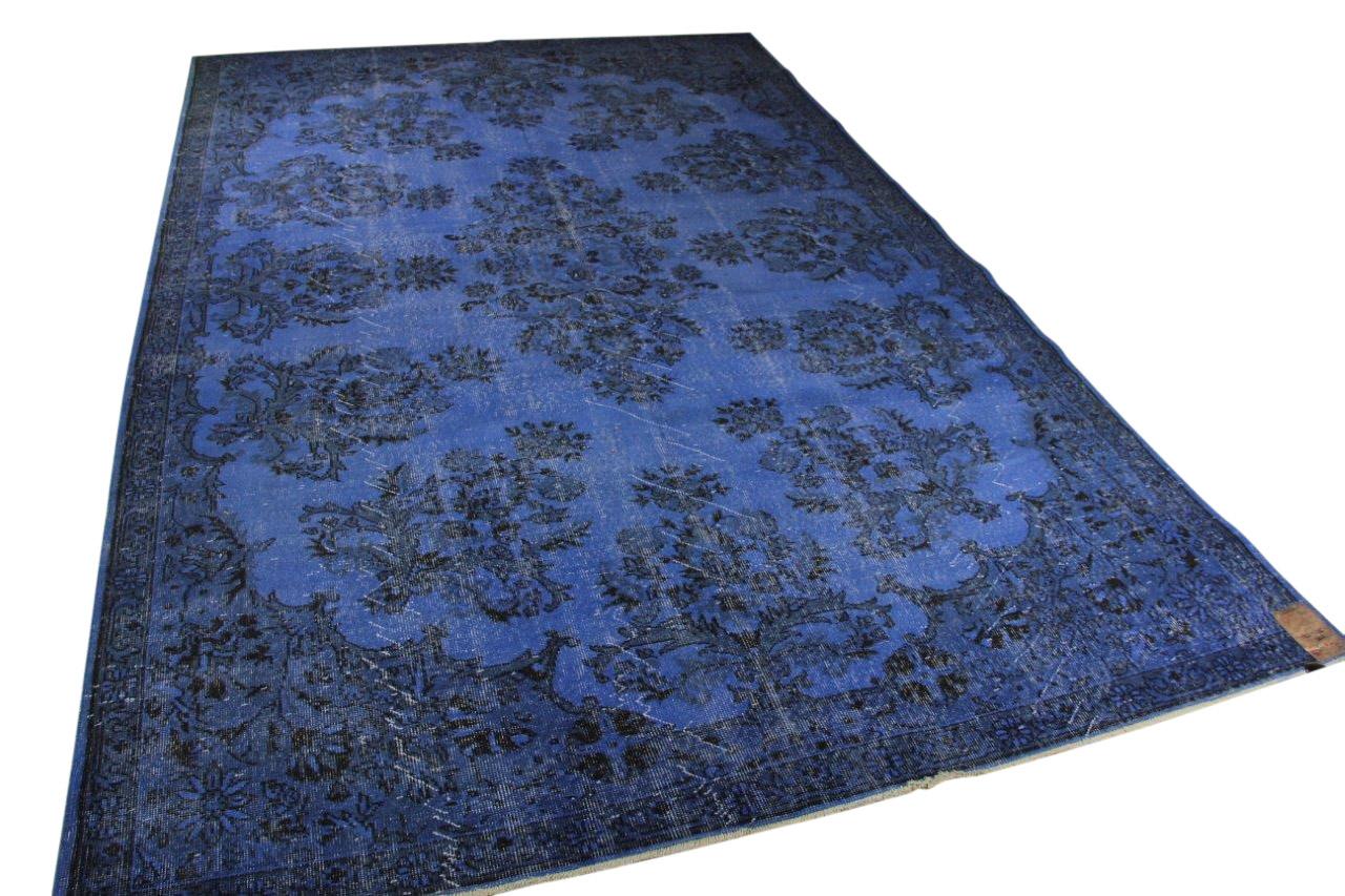 Vintage vloerkleed, blauw 351cm x 227cm