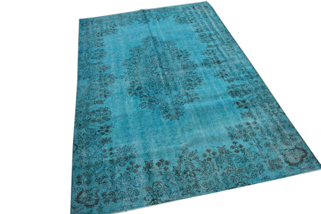 Blauw vintage vloerkleed 263cm x 167cm  (nr4886)