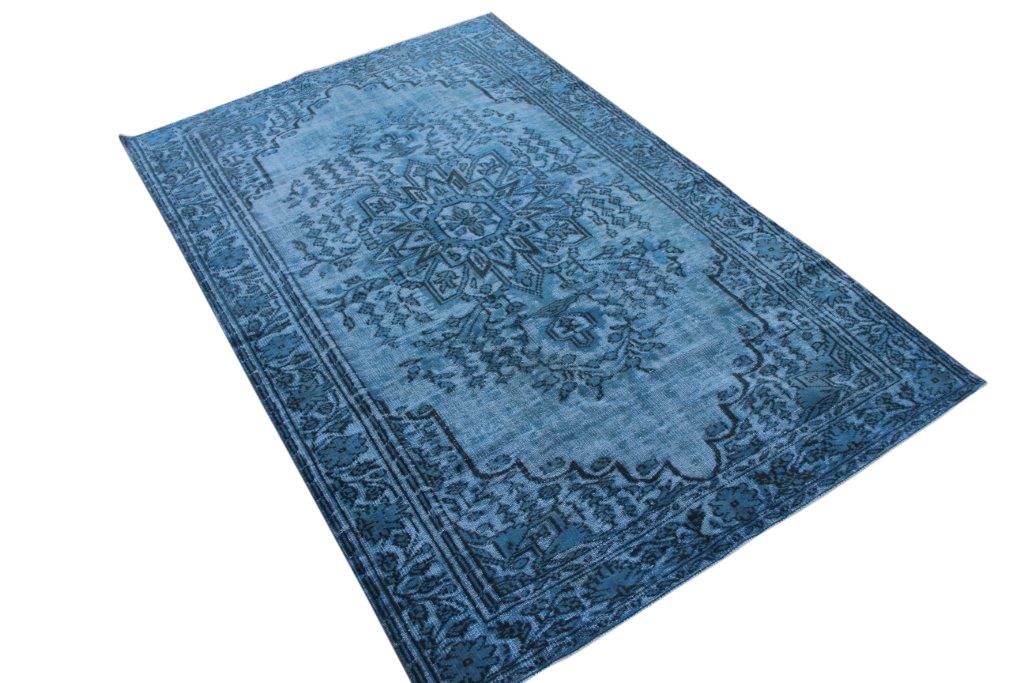 """""""3D look"""" relief geschoren blauw vintage vloerkleed nr 3009 (285cm x 179cm)"""