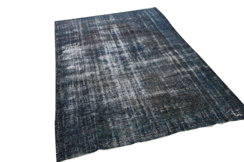 Donkerblauw vintage vloerkleed 310cm x 208cm  (nr1458)