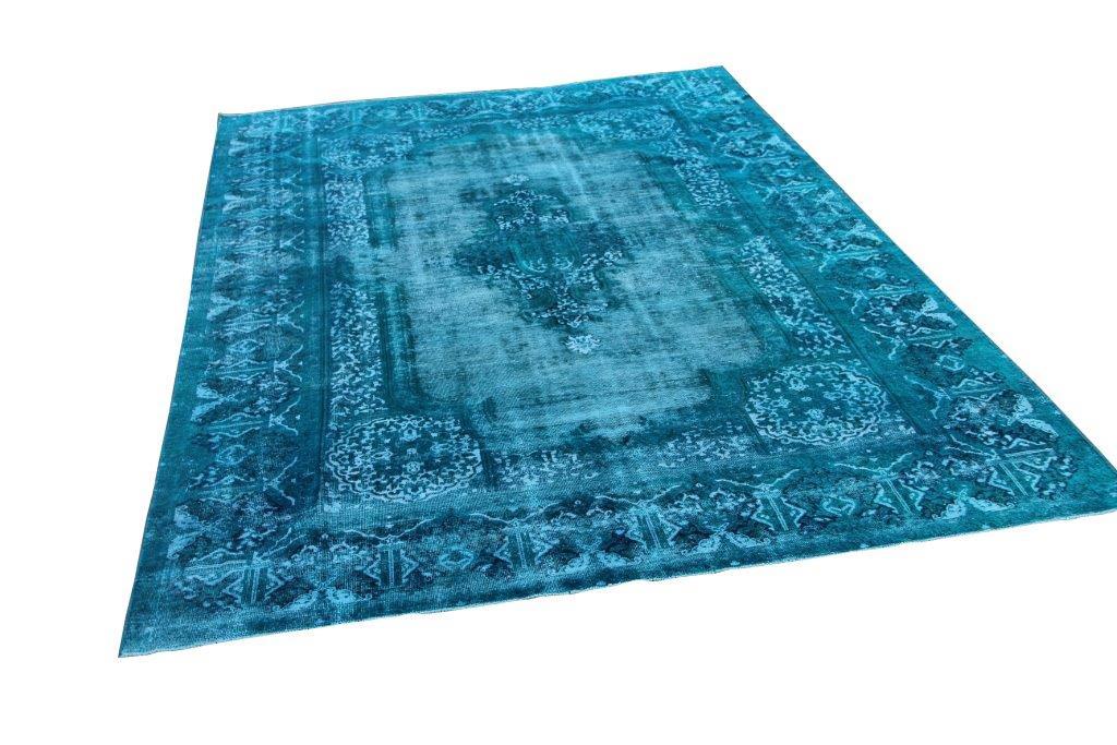 Blauw vintage vloerkleed 372cm x 241cm  (nr51090)